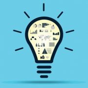 Images showing analysis, in a light bulb to illustrate project evalution