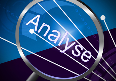Magnifying glass over the word analyse to illustrate analysis of TR PbR Figures